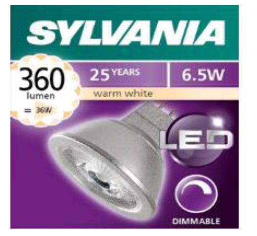喜萬年SYLVANIA 345lm GU5.3 6.5w射膽(可調光) SYLVANIA 345lm GU5.3 6.5w Dimmable LED Bulbs
