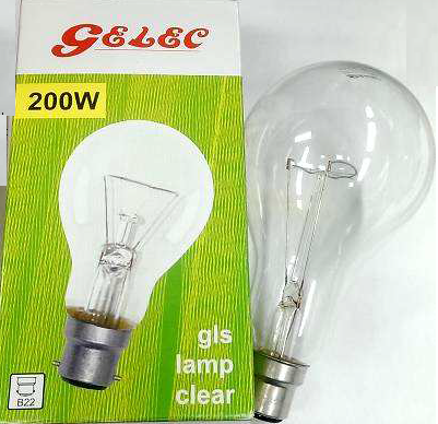 石利洛200W燈泡 Gelec Incandescent Lamps