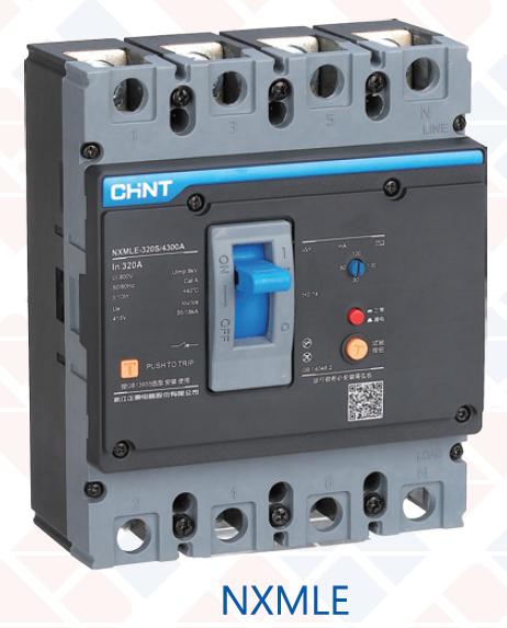 正泰 MCCB c/w RCBO 塑殼斷路器帶剩餘電流保護CHINT NXMLE series residual current circuit breaker