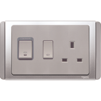 施耐德45A雙極制連13A有燈有制插座 Schneider 45ADouble pole switch and 13A switched socket