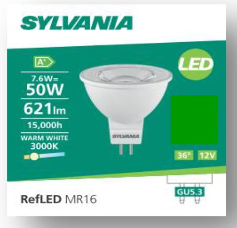 喜萬年 MR16 7.6w 621lm GU5.3 V4  射膽 SYLVANIA MR16 7.6w 621lm GU5.3 V4 LED Bulb