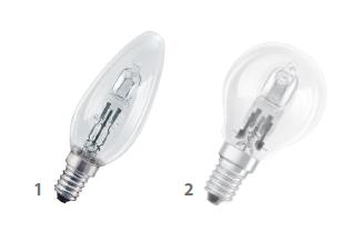 Osram 節能型石英椒/球型燈泡 (歐洲製造) Osram PRO Classic B/P (Europe Origin)