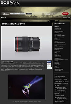 Lens review for Canon EOS World