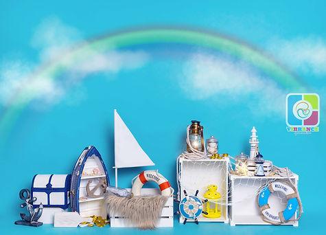 Vibrance Nautical w Cloud & Rainbow (Wat