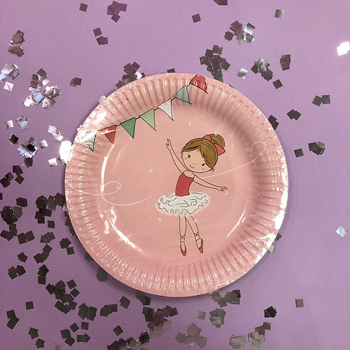 "Тарелки бум ""Маленькая Балерина"" 18 см 8 шт"