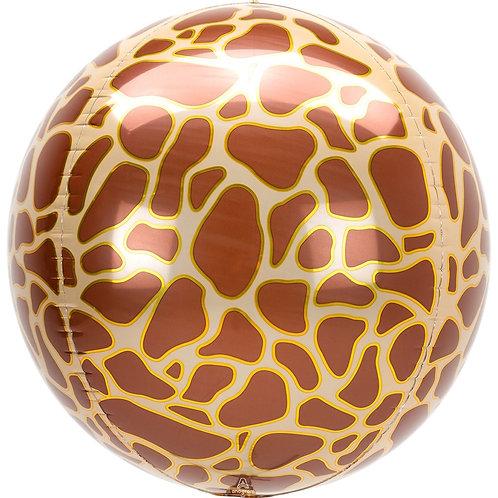 Сфера Жираф принт с гелием