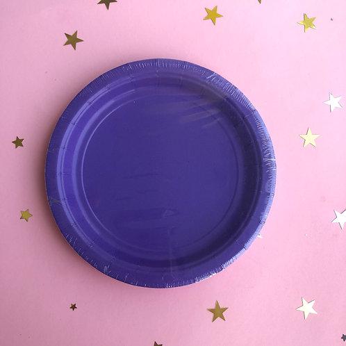 Тарелки фиолет, 8 шт