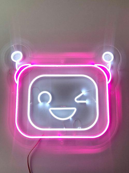 """Светильник """"Робот"""" розовый"""