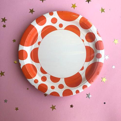 Тарелки Оранжевые круги, 8 шт уп