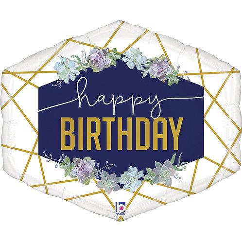 Шар Happy Birthday с гелием