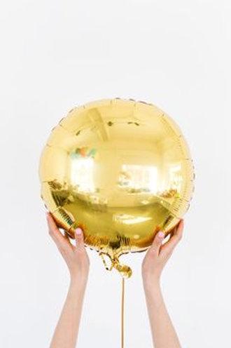 Шар круг золотой, 45 см