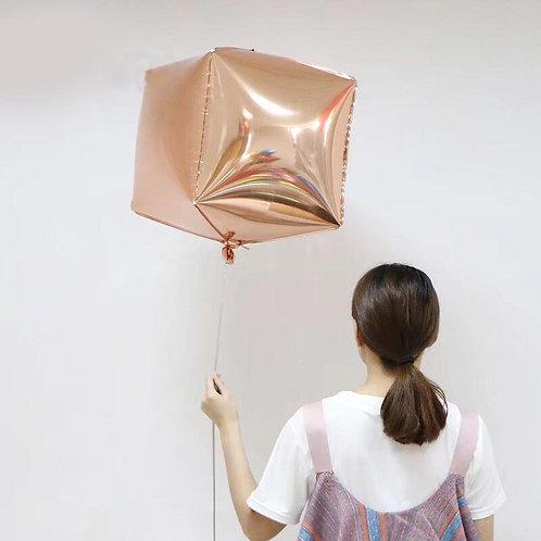 Куб 3д розовое золото