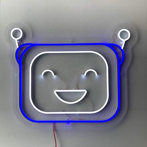 """Светильник """"Робот"""" синий"""