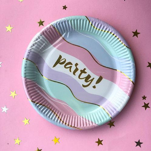 Тарелочки Party пастель, 8 шт
