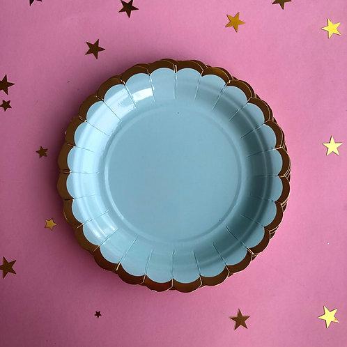 Тарелки Пастель голубые, 8 шт