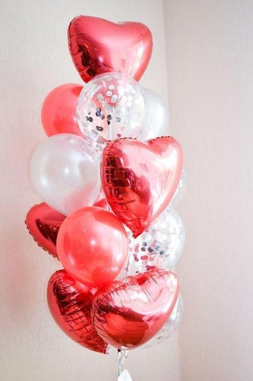 Набор Valentine mix 15 шариков