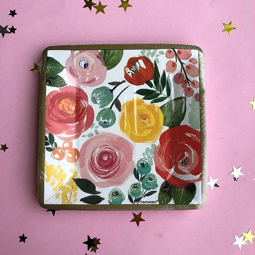 Тарелка Розы, 8 шт