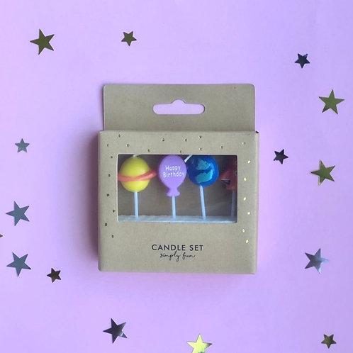 Свечи в торт Космос