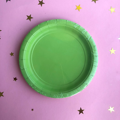 Тарелки зеленые, 8 шт