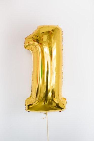Шар фольга 1 золото, 102 см