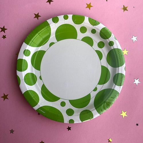 Тарелки зеленые круг