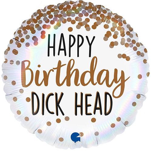 Шар Happy Birthday dick head