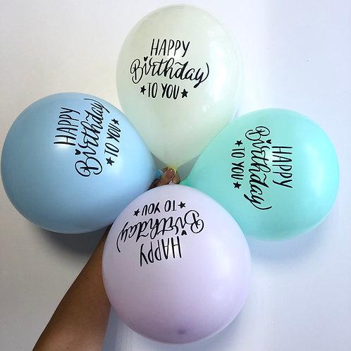 Happy Birthday pastel
