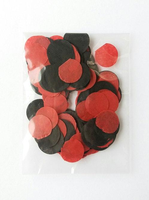 Черно-красные кружочки