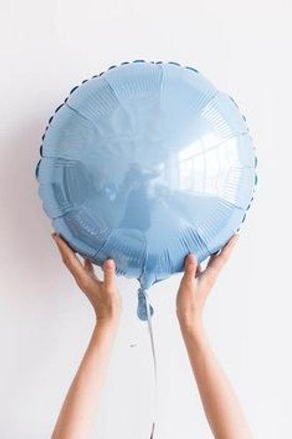 Шар круг голубой, 45 см