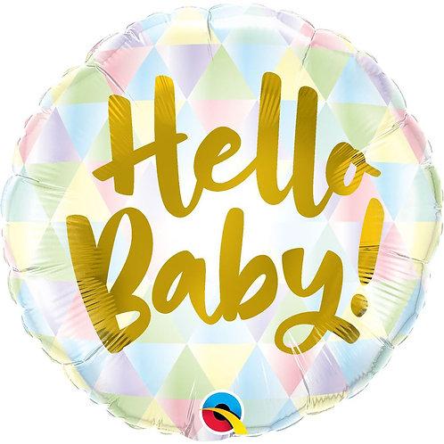 Круг Hello baby с гелием