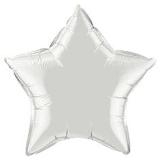 Шар звезда белая, 45 см