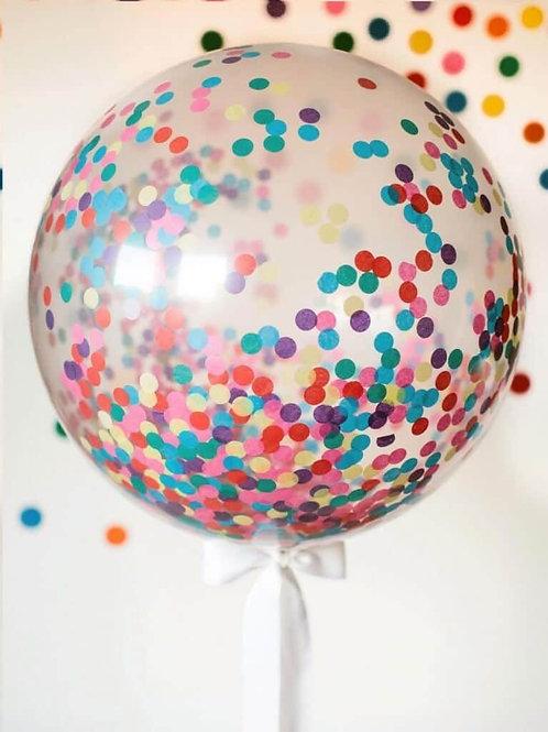 Гигант 90см с разноцветным конфетти