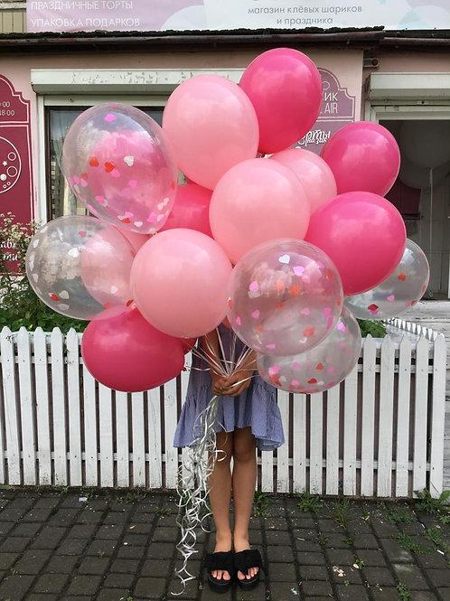 Яркий розовый набор с конфетти