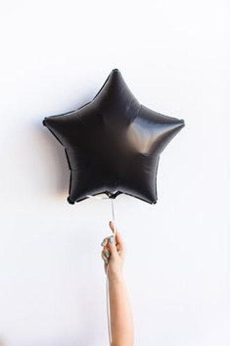 Шар звезда черная, 45 см