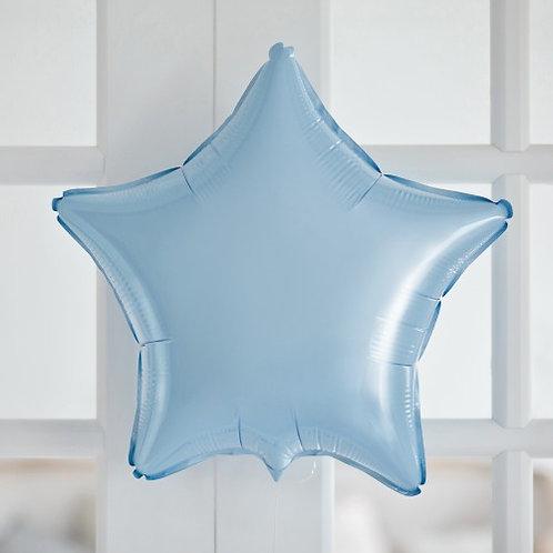Звезда голубой сатин