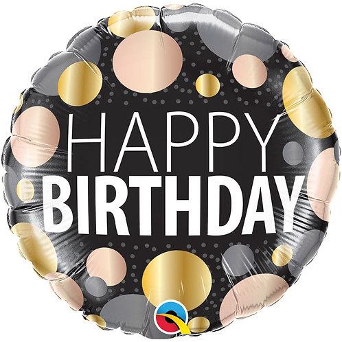 Круг Happy Birthday кружочки с гелием