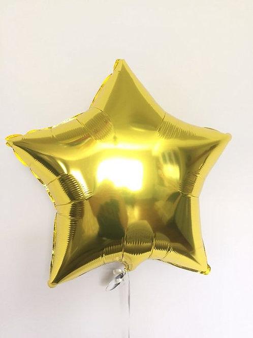Шар звезда золотая, 45 см