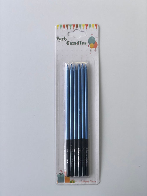 Свечи высокие голубые
