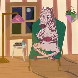 Calm evening for a Zebra, 2020