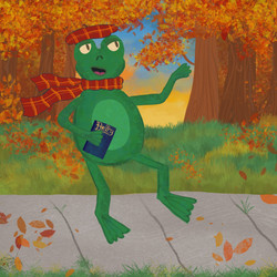 Frog on an Autumn Walk, 2020