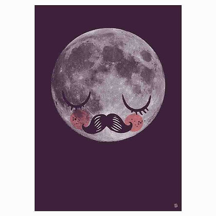 Moon Für Neil - Moon Poster by Martin Kurche