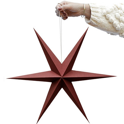 Rusty Red paper star set of 2
