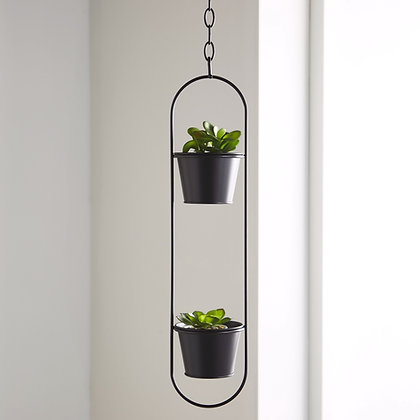 Small duo hanging planter