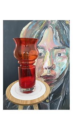 Riihimäki Tulip glass vase 1513