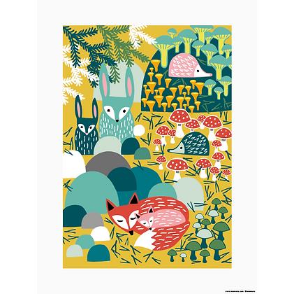 Metsänaapurit poster by Muumuru