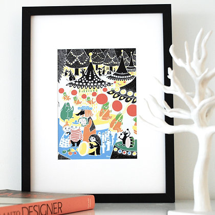 Moomin print Toffle's Party