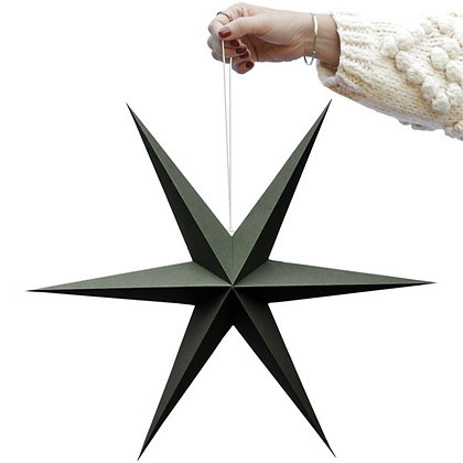 Olive Green paper star set of 2