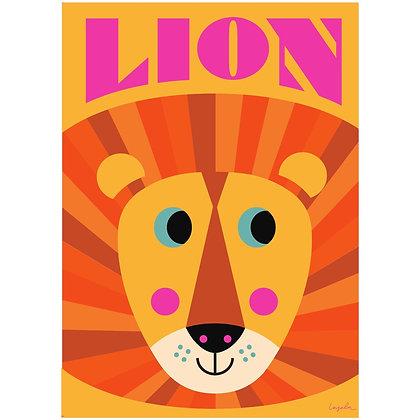 Lion print by Ingela P Arrhenius