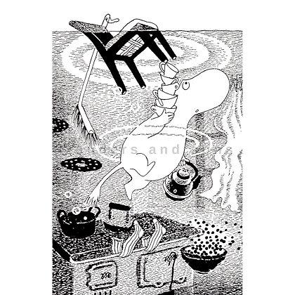 Moomin print midsummer