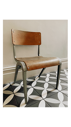 Vintage James Leonard School chair